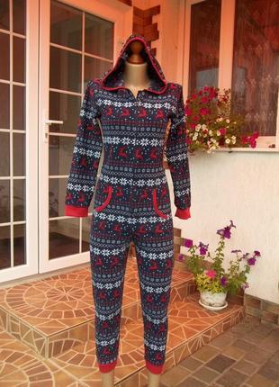 (11-12 лет) флисовый комбинезон пижама кируми