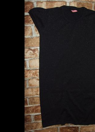 Трикотажное черное нарядное платье 13 - 14 лет девочке