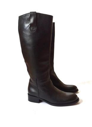 Carriere кожаные итальянские сапоги, ботфорты, высокие, оригин...