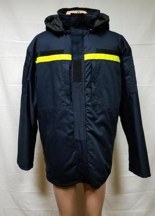 Распродажа Куртка бушлат зимняя ДСНС темно-синего цвета