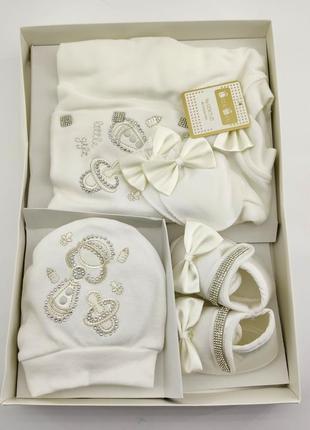 Набор на выписку для новорожденного подарок