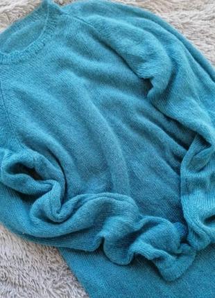 Вязаный свитер, кидмохер, шелк, меринос
