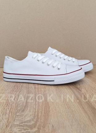 Кеды конверсы белые на белой подошве на шнурках converse низки...