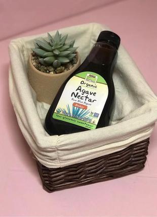 Now foods Органический сироп нектар агавы 660 mg