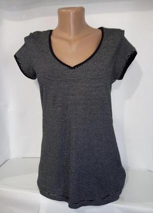 Хлопковая футболка в черно белую полоску atmosphere uk 14/42/l