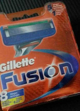 Скидка -40% Gillette FUSION 8шт/1уп Лезвия