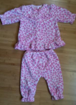 Пижама Welsoft (двусторонняя махра) теплую на девочку - рост76-86