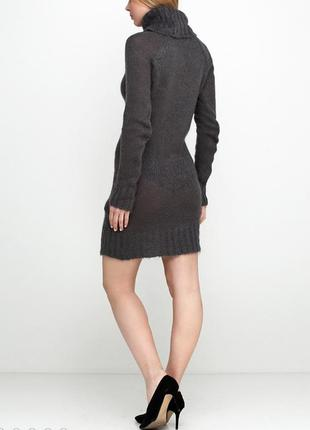 Вязанное платье zara с мохером и шерстью