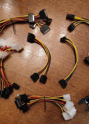 Переходник питания MOLEX 2 на 4 Pin 6 Pin PCI E для питания ви...
