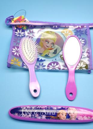 Набор детский расчёска зеркало футляр для зубной щетки в сумоч...