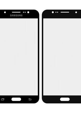 Стекло экрана Samsung J710F Galaxy J7 (2016) чёрное