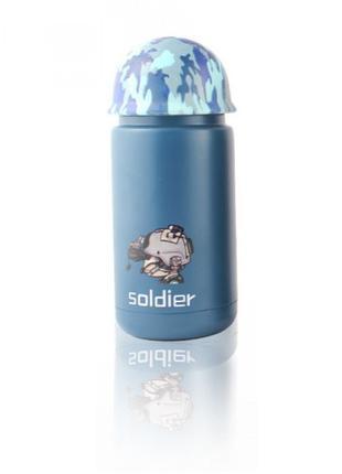 Термос в стиле милитари Soldier голубой SKL11-259304