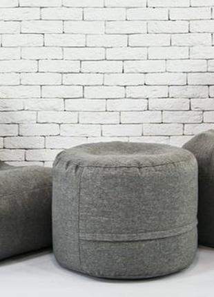 Набор мягкой мебели (груша+диван+пуф) XL кресло мешок Рогожка