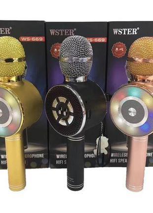 Караоке микрофон Wster WS-669 беспроводной микрофон со встроен...
