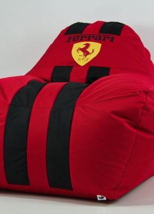 Бескаркасное кресло мешок диван ХL красное Феррари Ferrari с л...