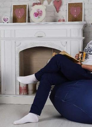 Бескаркасное кресло мешок груша XL Oxford. Мягкий пуфик, мебел...