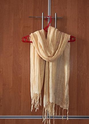 Легкий шерстяной женский шарф