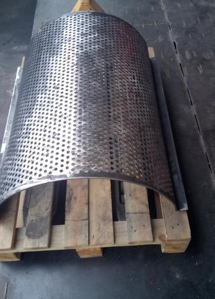 Ситовые полуцилиндры, решета к дробилкам пластмасы, древесины