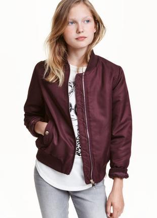 Куртка утепленная бомбер девочке 11 - 12  лет НМ