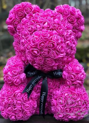 Мишка, медведь, медвежонок из искусственных 3D роз