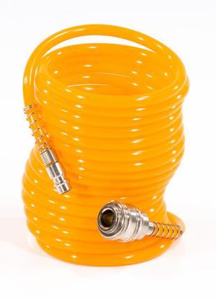 Шланг спиральный воздушный, 5 м, с быстросъемными соединениями...