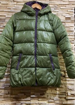 Куртка еврозима  на рост 160-164 оливковая