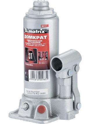 Домкрат гидравлический бутылочный, 3 т, h подъема 194–372 мм//...