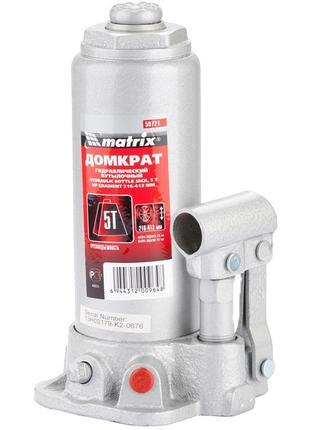 Домкрат гидравлический бутылочный, 5 т, h подъема 216–413 мм//...