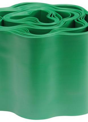 Бордюр садовый, газонная лента, высота 10 см длинна 9 м, зелён...