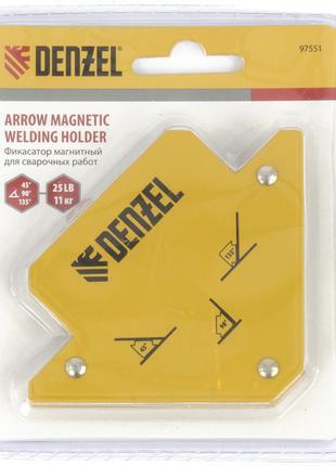 Фиксатор магнитный для сварочных работ, усилие 11 кг Denzel