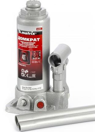 Домкрат гидравлический бутылочный, 4 т, h подъема 194–372 мм, ...