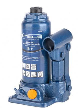 Домкрат гидравлический бутылочный, 2 т, h подъема 158–308 мм S...