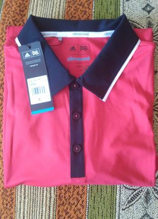 Красная рубашка поло Adidas