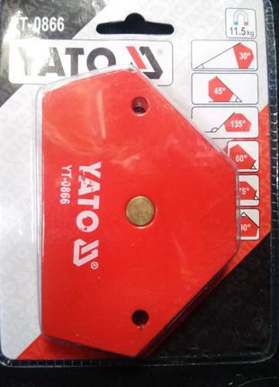 Уголок магнитный для сварочных работ, усилие 11,5 кг (64х95х14...