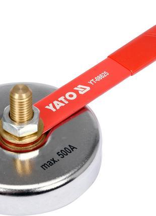 Магнитный сварочный зажим массы 85 мм 7 кг для тока 500 А YATO