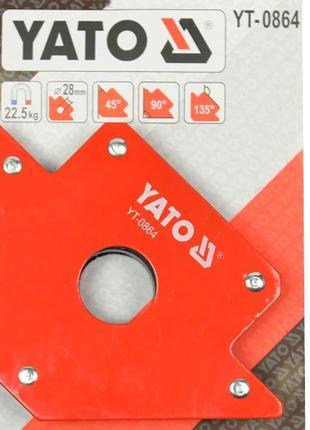 Уголок магнитный для сварочных работ, усилие 22,5 кг (102х155х...