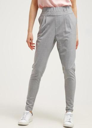 Мега стильные пастельные комбинированные брюки скинни высокая ...