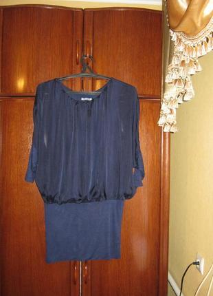 Платье италия, 30% натуральный шелк 70% вискоза, размер s/m