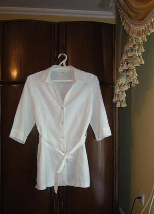 Рубашка-туника wallis, 100% лен, размер 16/44