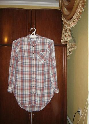Рубашка-туника falmer heritage, вискоза хлопок, размер м-ка