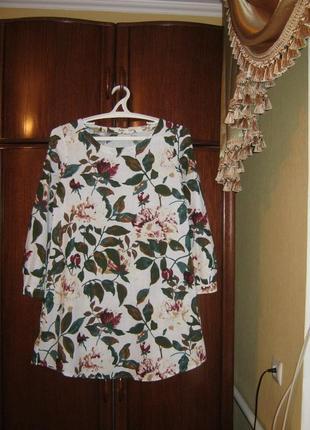 Платье, хлопок конопля, размер l