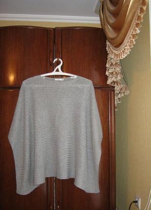 Пончо wera stockholm, натуральный кашемир шерсть, один размер