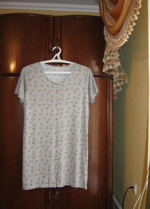 Ночная сорочка bella beau, 100% хлопок, размер m/l