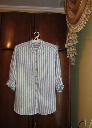 Рубашка-туника miss selfridge, лен, размер 16/44