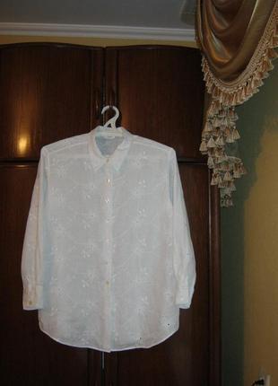 Рубашка marks&spencer, 100% лен вышивка, размер 16/44