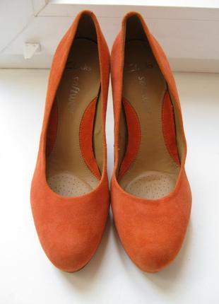 Туфли clarks, 100% натуральная замша, размер 5/38