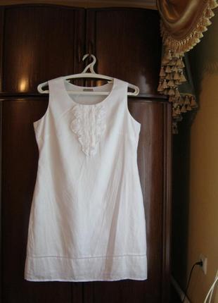 Платье marks&spencer, 100% лен, размер 16/44