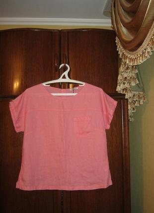 Блуза оверсайз marks&spencer, 100% лен, размер 16/44