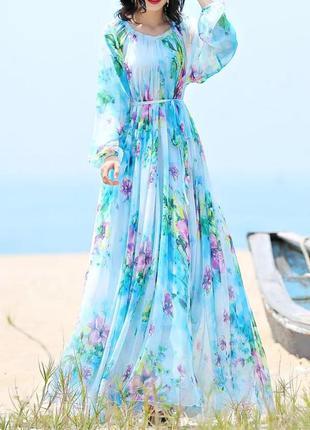 Платье оверсайз шифон