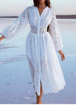 Белое платье прошва , подкладка хлопок, люкс качество